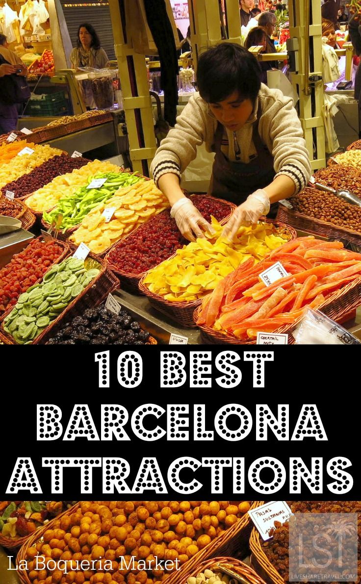 La Boqueria Market on Las Ramblas in Barcelona is one of the most colourful markets in the world, and well worth a visit.