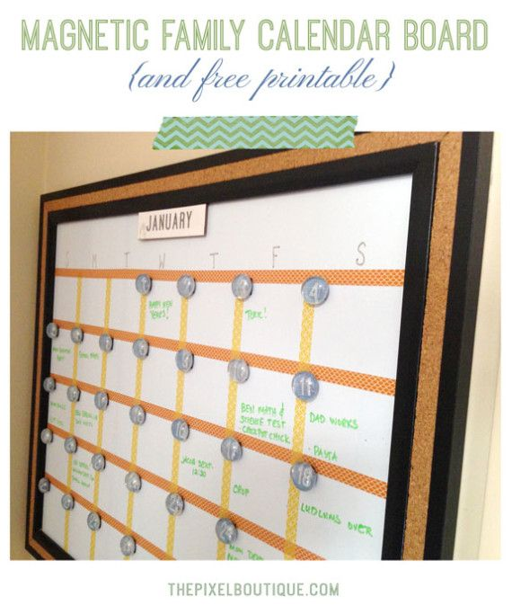 Calendar Board Printables : Best family diy s info printables ect images on