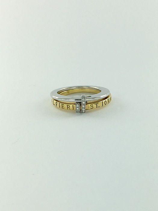 Catawiki online auction house: Anel de diamante bicolor Alfieri St. John