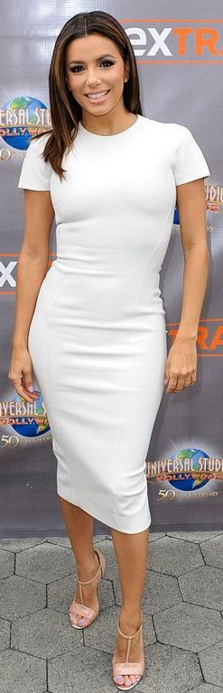 Eva Longoria: Dress – Victoria Beckham Collection Shoes – Christian Louboutin