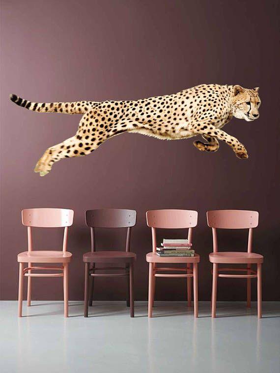 Decals Wall Decor Cheetah Full Color