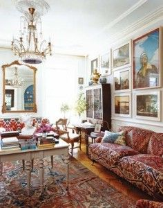 five story Brooklyn brownstone belongs to Charles and Olya Thompson featured in Vogue