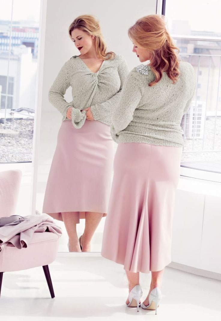 Пуловер: Burda Мода для полных 2/ 2014/ 417 / Burdastyle