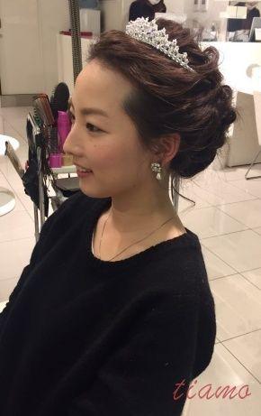 人気の挙式シニヨン→春らしいふわふわダウンにチェンジのCUTE花嫁さま♡ の画像 大人可愛いブライダルヘアメイク『tiamo』の結婚カタログ