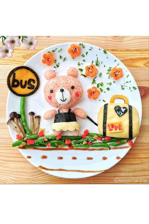 How incredible is this? Food art is a great way to get kids thinking about what they're eating.