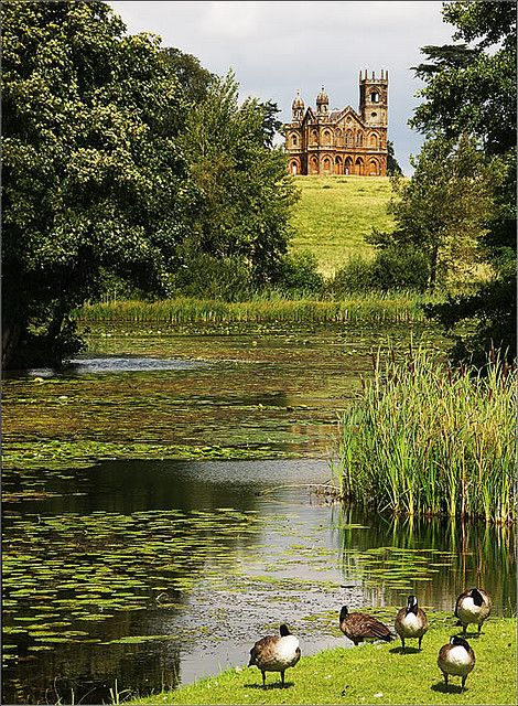 Gothic Temple in Stowe Gardens, Buckinghamshire, England