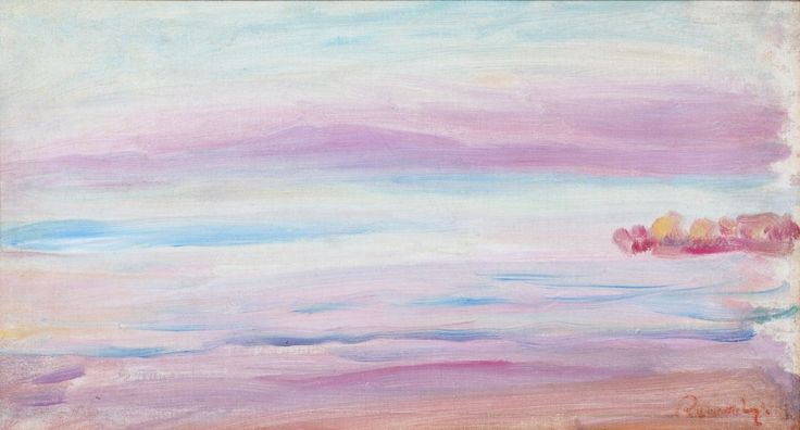 Sunset, view to Guernesy | Auguste Renoir [1893]