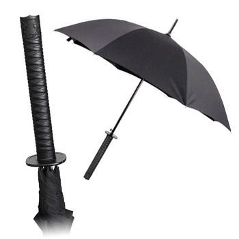 Samurai Umbrella - Turn those dreary, rainy days into an adventure with this Japanese inspired auto release folding umbrella with katana handle