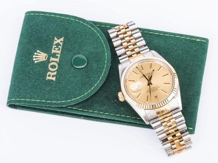 Lot 56: Rolex Datejust Gents Watch Steel/gold