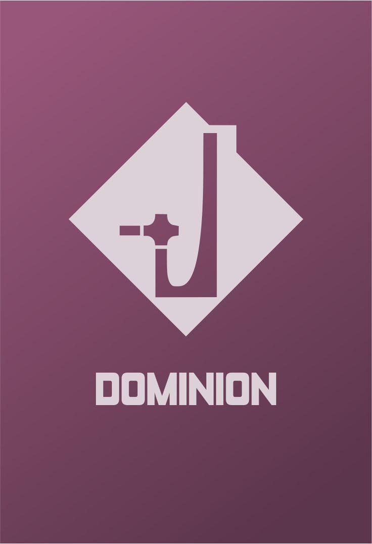 Star Trek Logo Dominion Flat Design