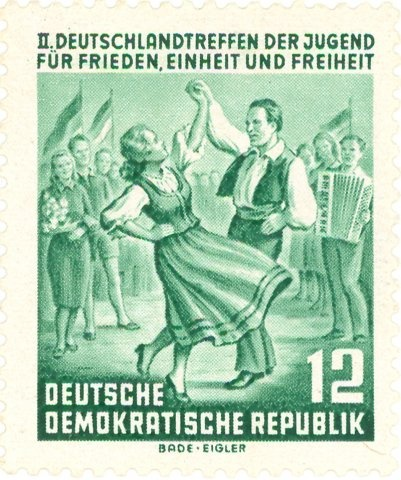 Germany - Dance couple. 2nd Youth Congress.