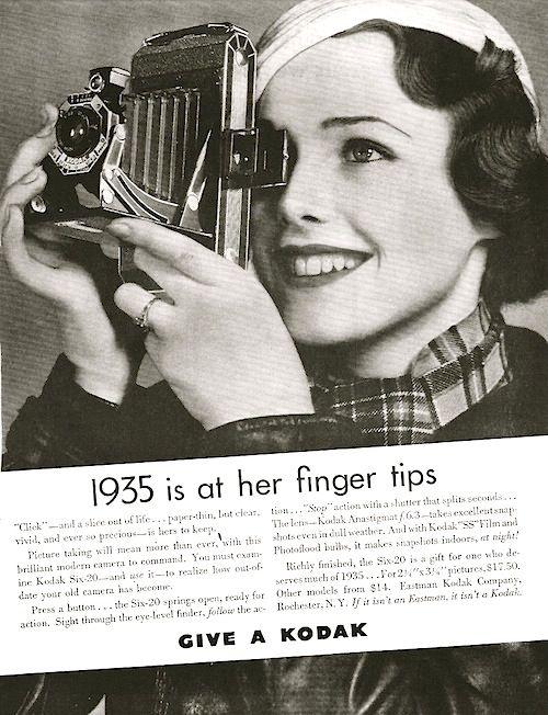 Kodak Ad, 1935