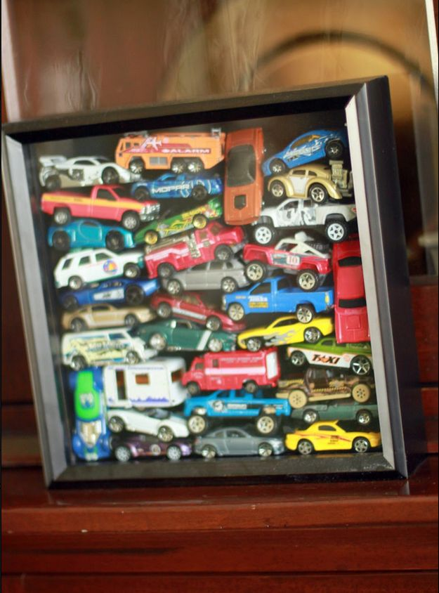 """Turn a shadow box into a """"memory box."""" 