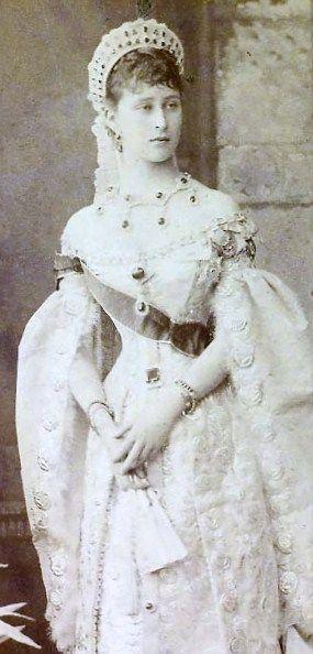 Grand Duchess Elizabeth Feodorovna, 21-yrs old, in Russian Court dress 1885                                                                                                                                                     More