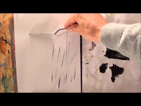 Tricks für die Acrylmalerei (2): Linien malen - YouTube