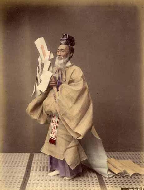 Shinto Priest by Kusakabe Kimbei