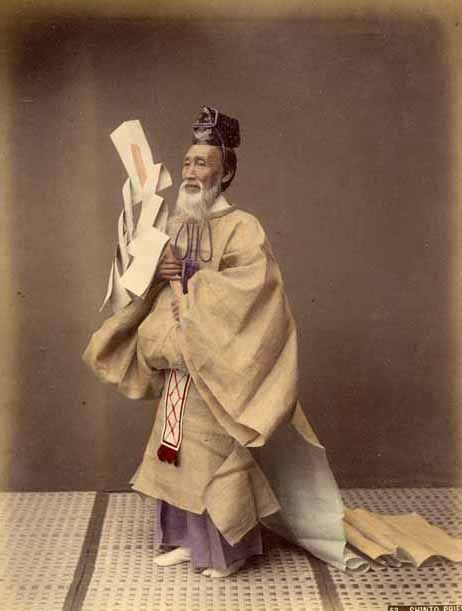 Shinto Priest by Kusakabe Kimbei