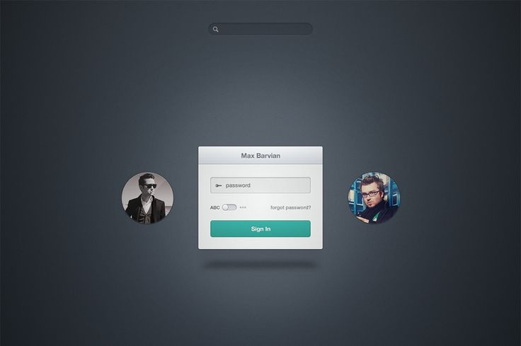 Admin Login by mbarvian on Creative Market