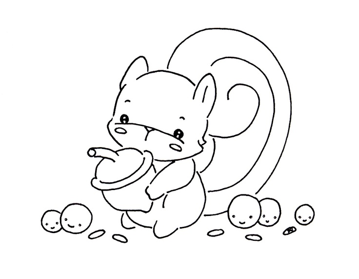 Sliekje's cute Stuff Little squirrel digistamp Rubber