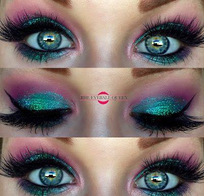 The Eyeball Queen: Disney's Princess Ariel Inspired Glittery Halloween Makeup…