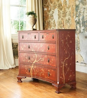 Southern Chateau...Japanese Concave Chest: Japanned Concave, Concave Chest, Painted Furniture, Search, Furniture Painting Etc, Dream House, Southern Chateau, Chateau Japanese Concave