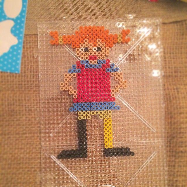 Pippi Longstocking hama beads by mioumydarling