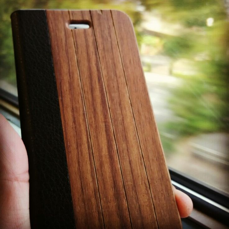 iPhone 6 Wood Flip Case in Walnut by Bamboo & Wood