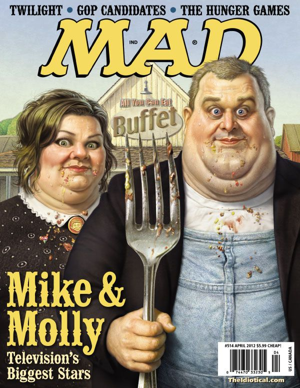 American Gothic Parodies on Magazine Covers - American Gothic Parodies