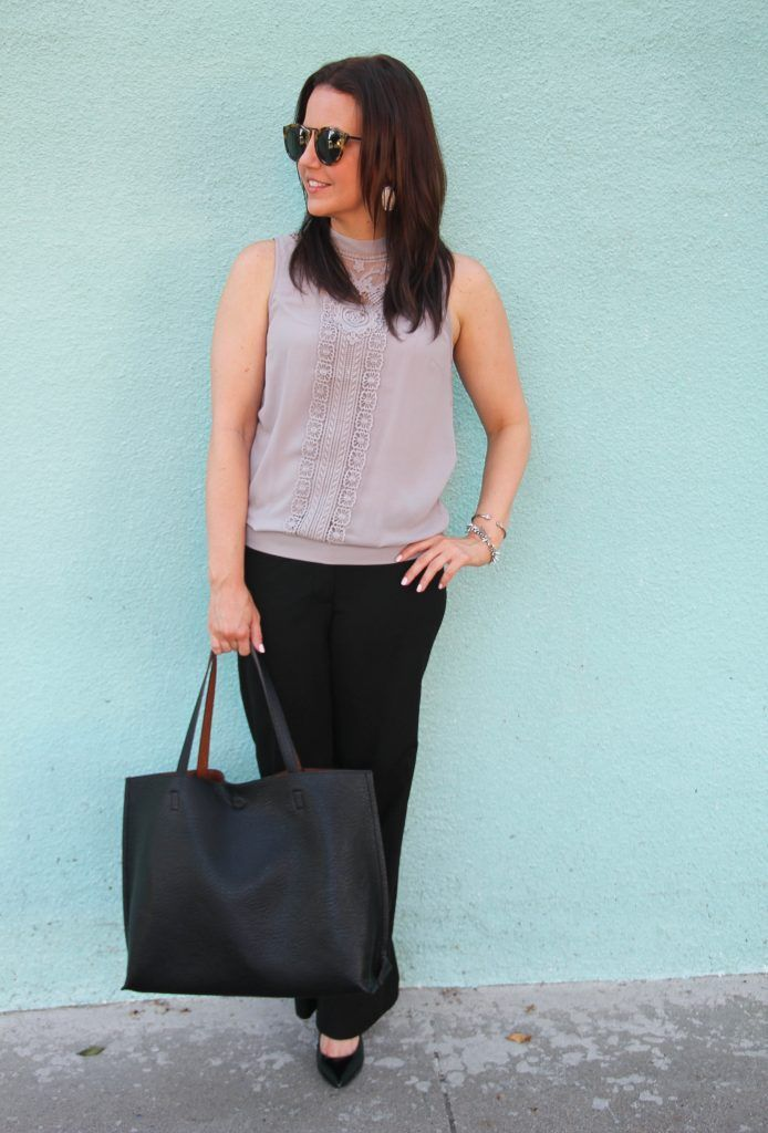 summer work outfit wide leg work trousers