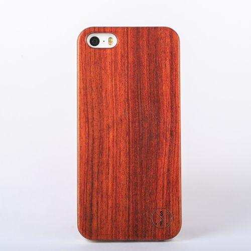 Rosewood Cabot Case - White iPhone 5/5S - Composed of a solid piece of rosewood with a polycarbonate shell, this unique case offers protection from harmful elements and scratches. Plus, 20% of the sale goes to charity and 1 tree is planted per product sold!