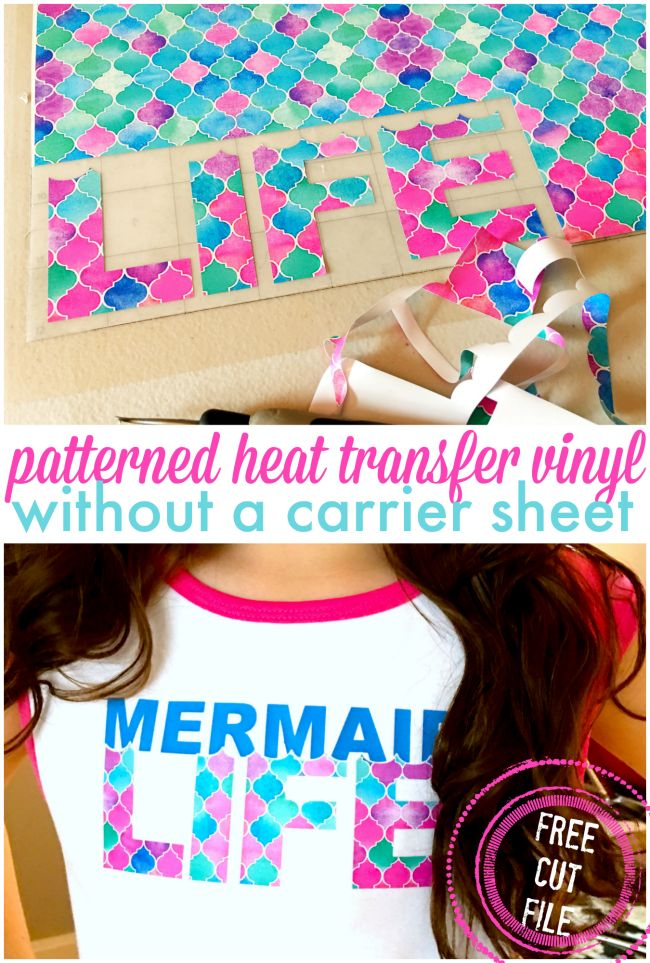 How to cut and apply patterned heat transfer vinyl
