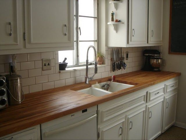 We Replaced The Original Laminate Counters In Our House With Maple Butcher Block And