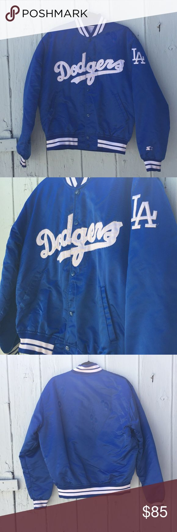 Vintage Dodger Starter Jacket Awesome vintage Dodgers starter jacket! In good vintage condition - complete with snap buttons!  this is an AMAZING find for the true Dodger diehard!! Starter Jackets & Coats