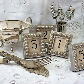 Cute! DIY Silver Boules Mini Frames (would be great with monograms too)