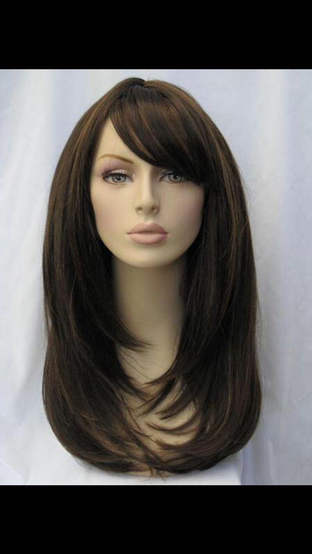 Long hair side bangs