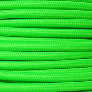 Italian made neon green fabric lighting cable