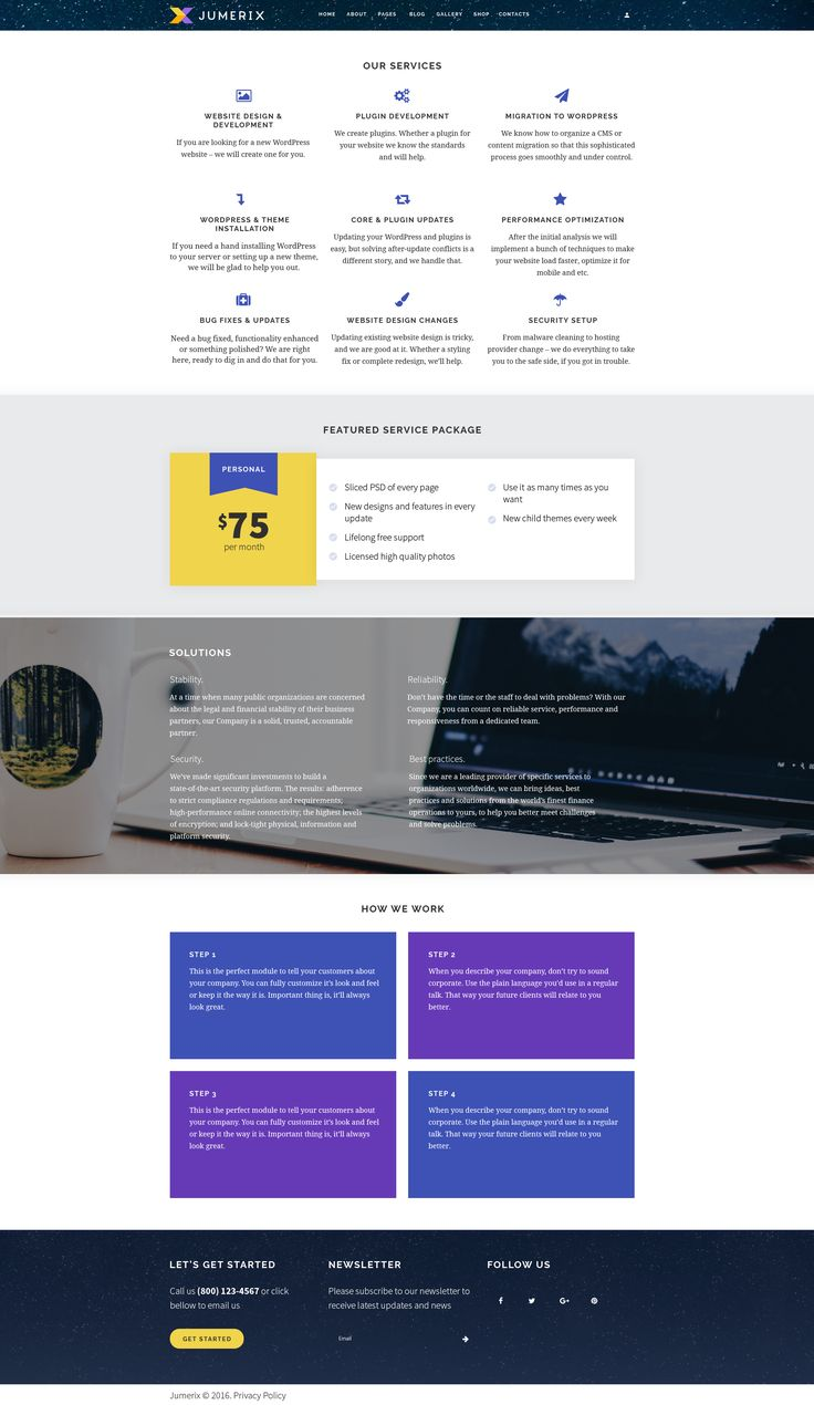 Services Page of Jumerix - New Joomla Template http://www.templatemonster.com/jumerix-multipurpose-joomla-template-60060.html