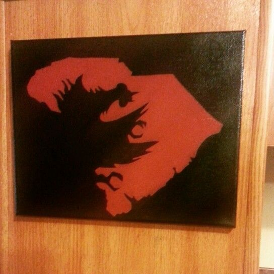 Gamecock shadow cut out of SC state January 2015