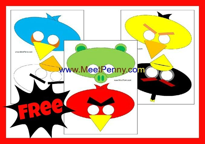 Angry Birds Masks printable