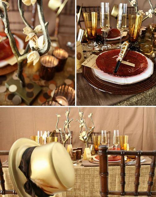 Decor ideas for New year's eve wedding