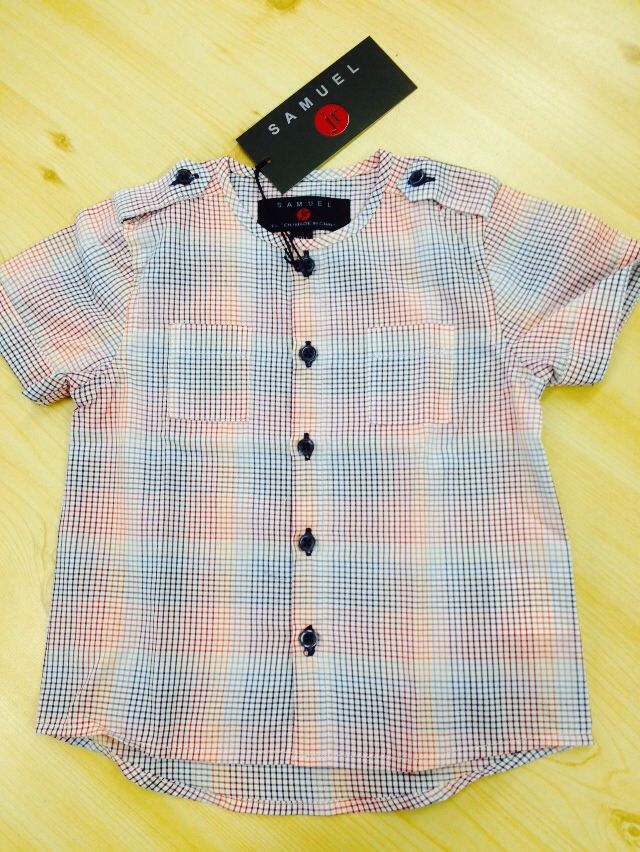 Boys multicolor checked shirt matching girls Samuel jr