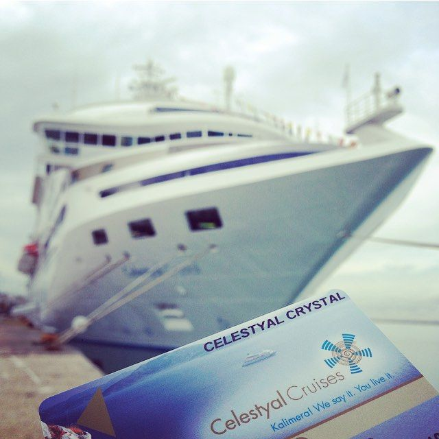 Celestyal Crystal is getting ready for new adventures this season.  Brace yourself to join us and you won't regret it!    Photo by @bsdelos #Celestyalcruises #cruiseship #CelestyalCrystal #adventure #travel