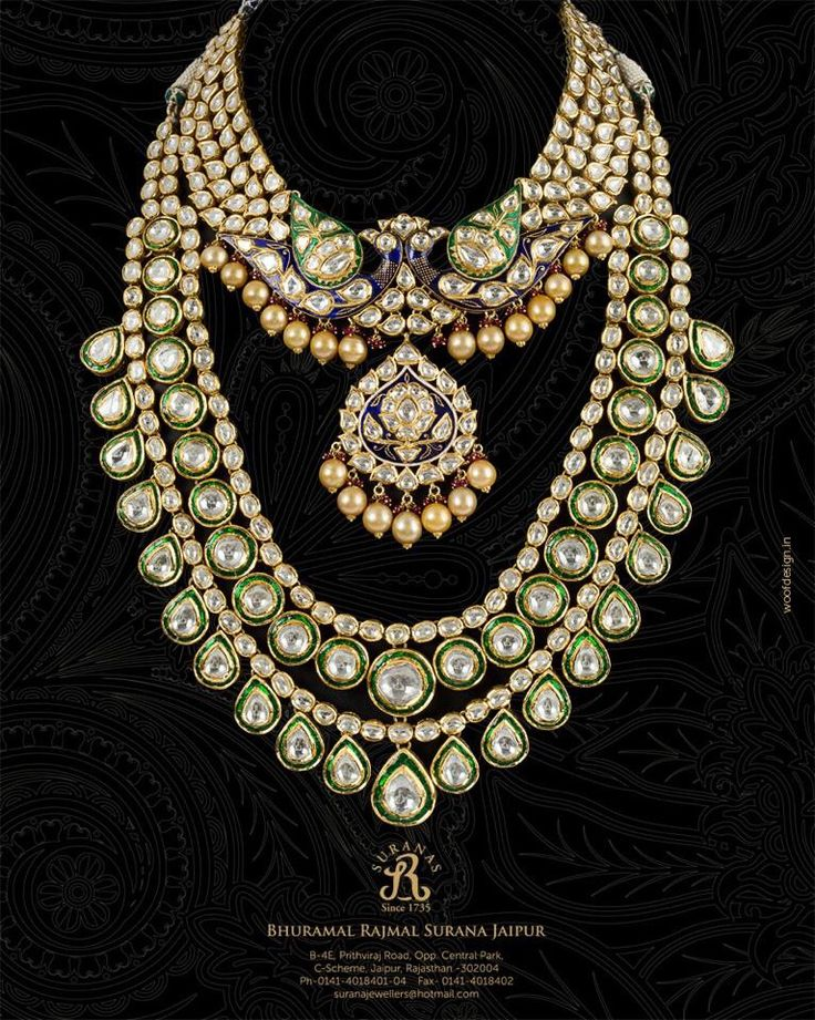 Indian Bridal Kundan and pearl jewellery. Bridal fashion. Statement necklace. - loved & pinned by www.omved.com
