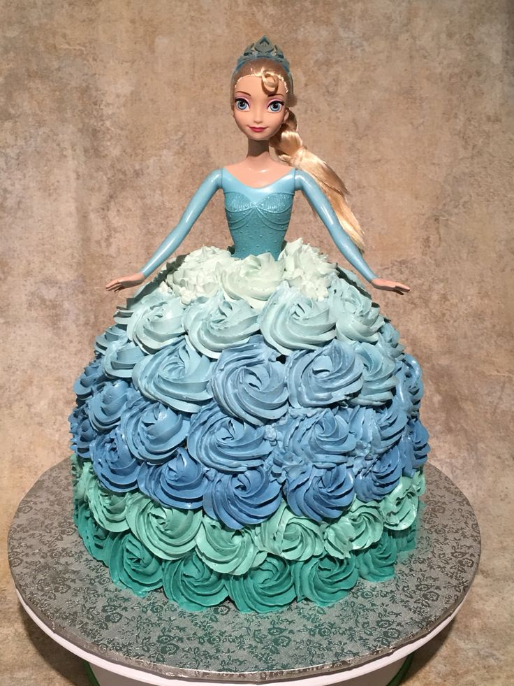 Princess gown cake.