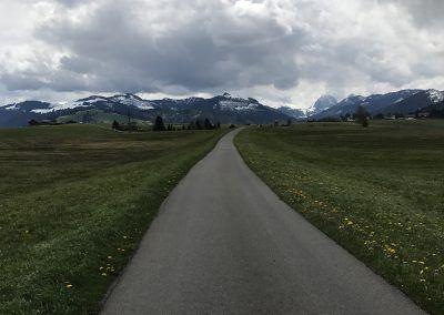 """Via Jacobi : Le Chemin de St-Jacques de Compostelle en Suisse. """"Chemin menant à Einsiedlen"""""""