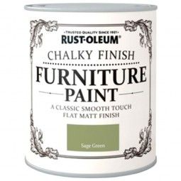 Rust-Oleum Chalky Finish Furniture Paint Sage Green Matt 125ml