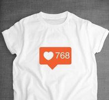 Donne T shirt Social Media Ama Arancione Lettere Stampa Casual ragazza Camicia di cotone A Vita Bassa Per La Signora Divertente Top Tee Bianco Grigio B-178(China (Mainland))
