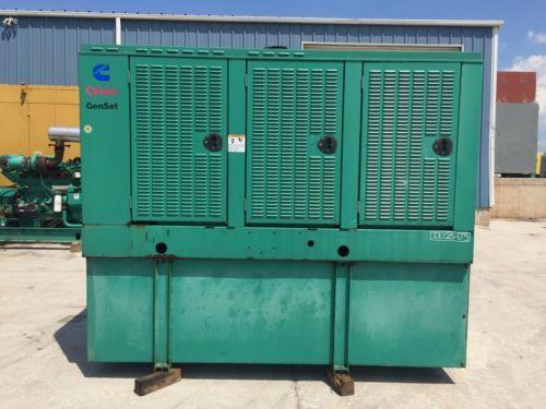 125 kW Cummins Onan Generator 366 Gallon Base Fuel Tank 12 Lead Reconnectab...