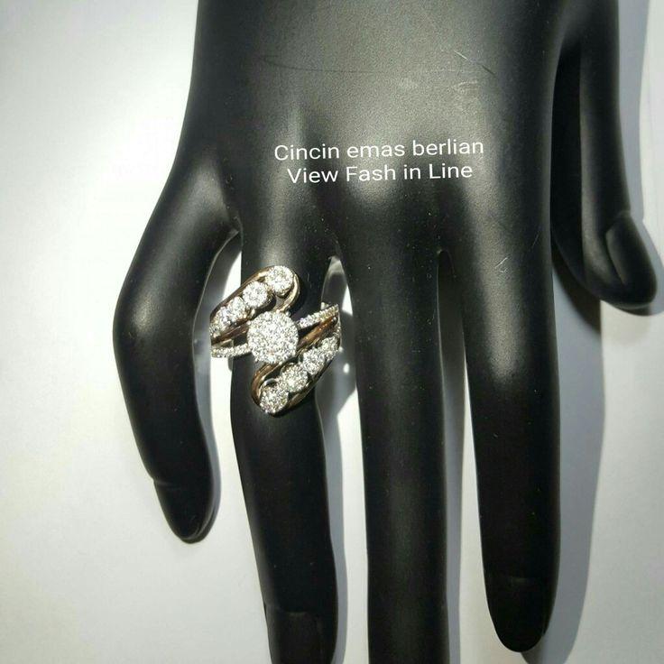 New Arrival🗼. Cincin Emas Berlian View Fash in Line💍💎.   🏪Toko Perhiasan Emas Berlian-Ammad 📲+6282113309088/5C50359F Cp.Dewi👩.  https://m.facebook.com/home.php  #investasi #diomond #gold #beauty #fashion #elegant #musthave #tokoperhiasanemasberlian