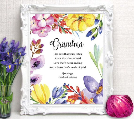 38 best images about gift ideas for grandma grandpa on for Birthday gifts for grandma from granddaughter
